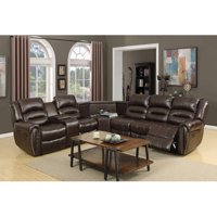 Leonel Signature Amelia Leather Air Motion Sectional with USB Ports, Multiple Colors