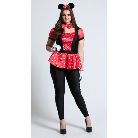 Three Blind Mice Costumes For Adults (Plus Size Polka Dot Mouse)