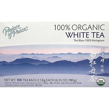 Prince of Peace Organic White Tea, 100 Tea Bags Per Box