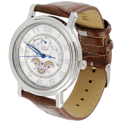 Aktion Men's Watch, Leather Band