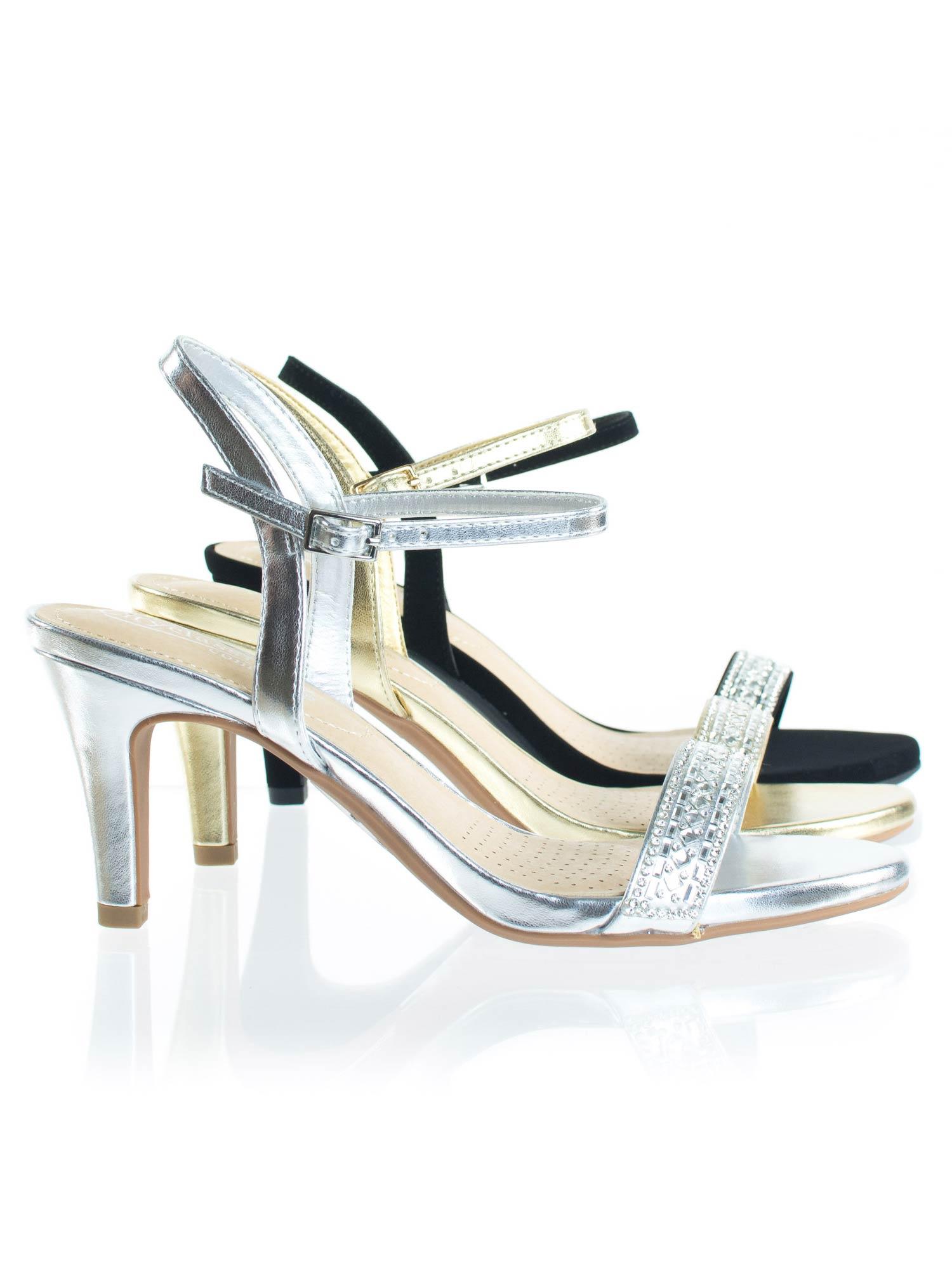 Grant by City Classified, Rhinestone Crystal High Heel Dress Sandal w Comfortable Foam Padding