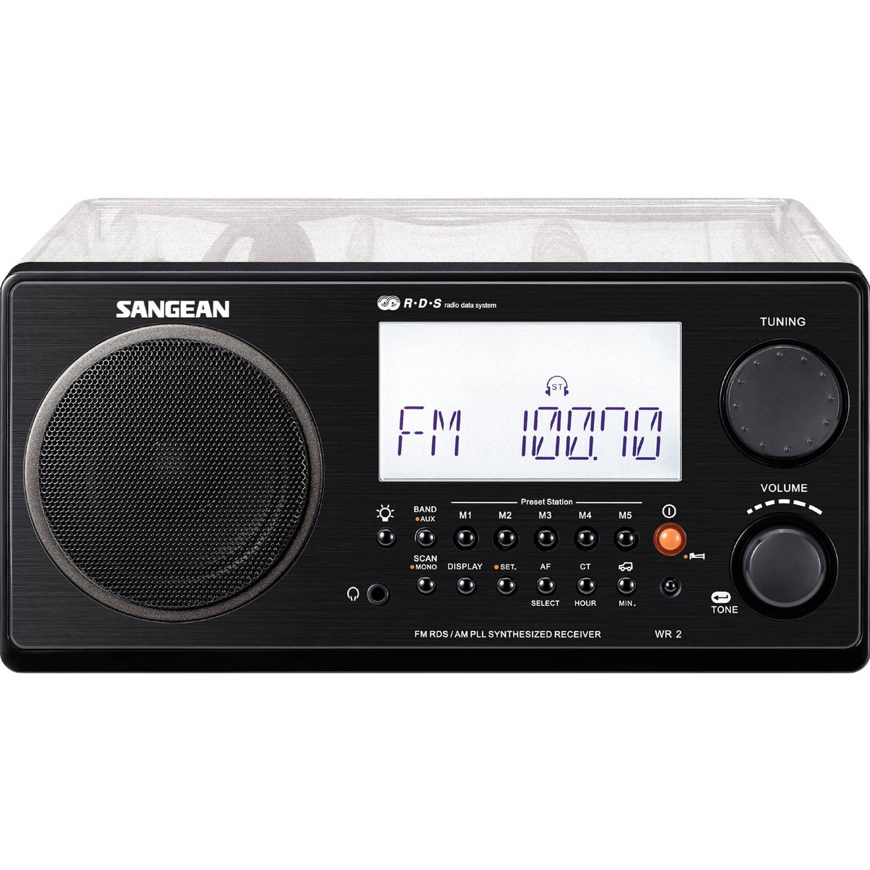 Sangean AM FM Digital Tuning Portable Table Top Radio WR-2CL Clear by Sangean