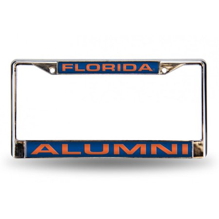 Florida Gators Alumni Laser Chrome License Frame.  Free Screw Caps Included - image 1 of 1