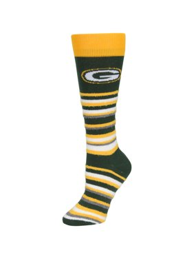 34184ad12b0f0 Product Image Green Bay Packers For Bare Feet Women s Muchas Rayas Sleep  Soft Socks - No Size