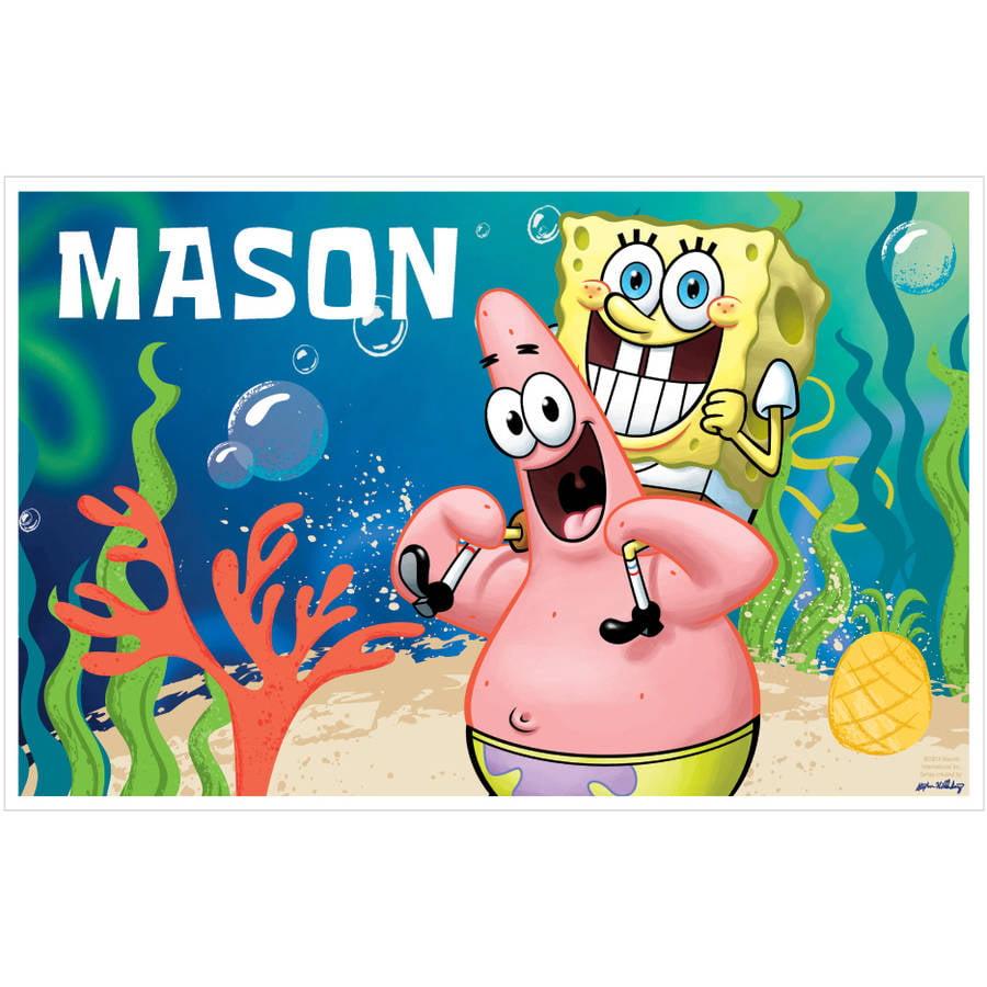 Personalized Spongebob Squarepants Starfish Friends Placemat
