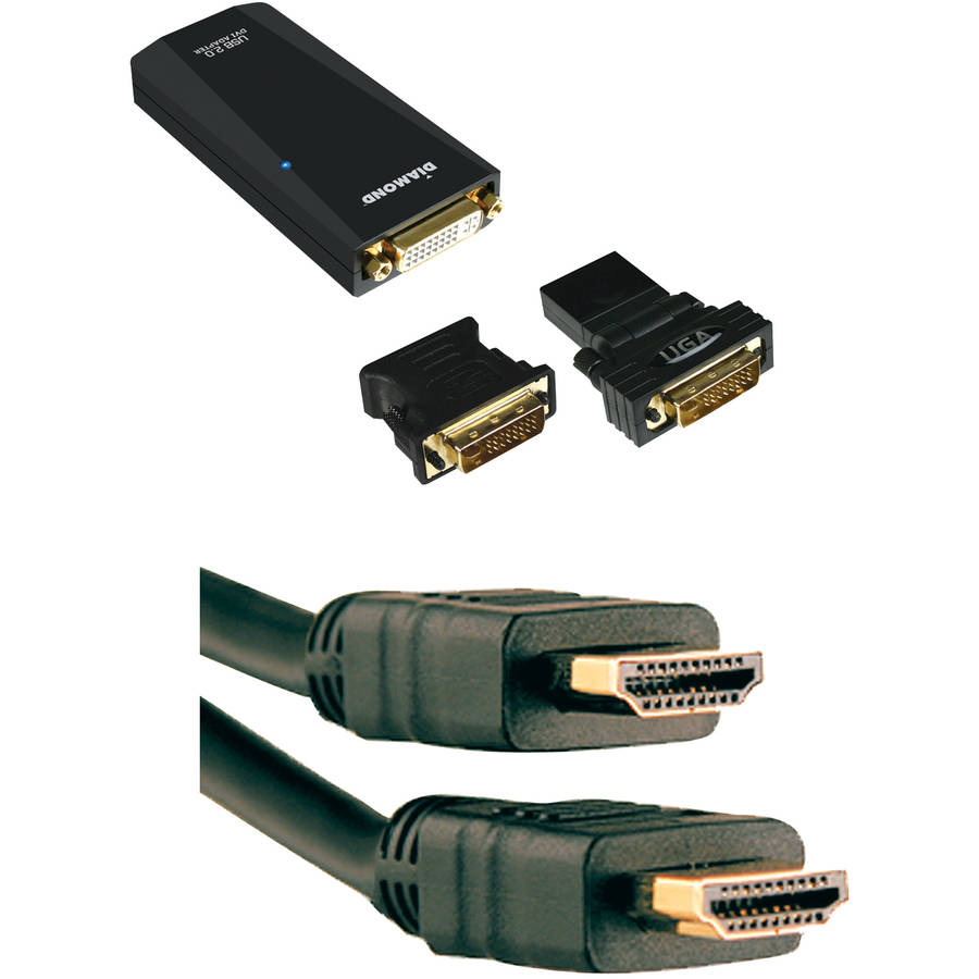 Diamond VGA/DVI/HDMI Adapter and Axis 6' High-Speed Cable with Ethernet