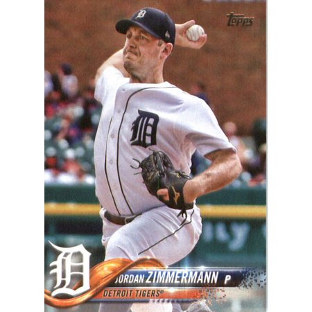 2018 Topps #279 Jordan Zimmermann Detroit Tigers Baseball Card (2018 Jordans)