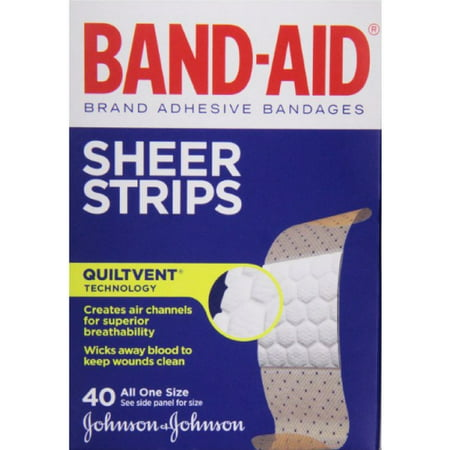 2 Pack - BAND-AID Sheer Strips Adhesive Bandages, All One Size 40 ea