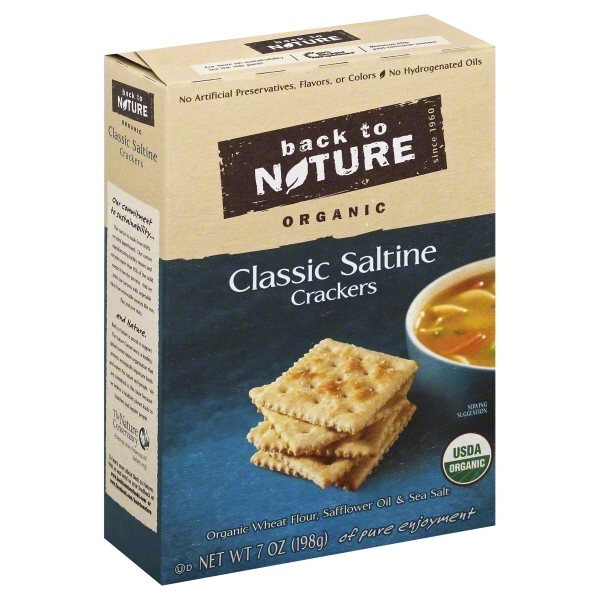 Back to Nature Organic Saltines, 7 Ounce []