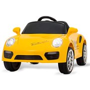 Uenjoy Kids Electric Ride on Cars 6v Battery Power Motorized Vehicles, Remote Control, Suspension, Music, Headlights, Horn, Yellow