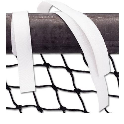 Hook and Loop Soccer Net Straps by Alumagoal - White