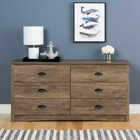 Prepac Salt Spring 6-Drawer Dresser, Drifted Gray