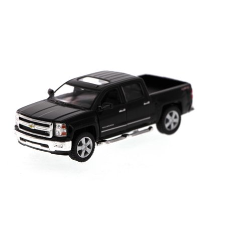 2014 Chevy Silverado Pick-up Truck, Black - Kinsmart 5381D - 1/46 Scale Diecast Model Toy Car (Brand New, but NOT IN BOX) (Chevy Silverado Model Truck)