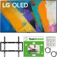"""LG OLED65GXPUA 65 inch GX 4K Smart OLED TV with AI ThinQ 2020 Model Bundle with TaskRabbit Installation Services + Deco Gear Wall Mount + HDMI Cables + Surge Adapter(OLED65GX 65GX 65"""" TV)"""