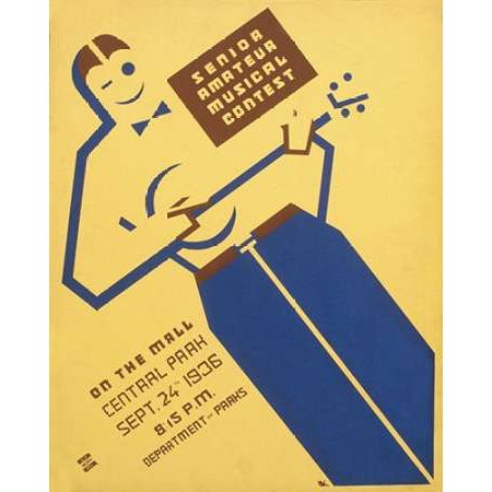 Senior amateur musical contest on the mall Central Park Poster Print by Ben Kaplan