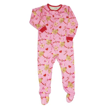 Babies R Us Baby Girl Pink Gingerbread Sleeper Holiday Christmas Pajamas](Halloween Babies R Us)