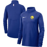 Golden State Warriors Nike Women's Element Performance Raglan Sleeve Half-Zip Pullover Jacket - Royal