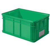 Solid Wall Stacking Container, Green ,Ssi Schaefer, 1461.261912GN1