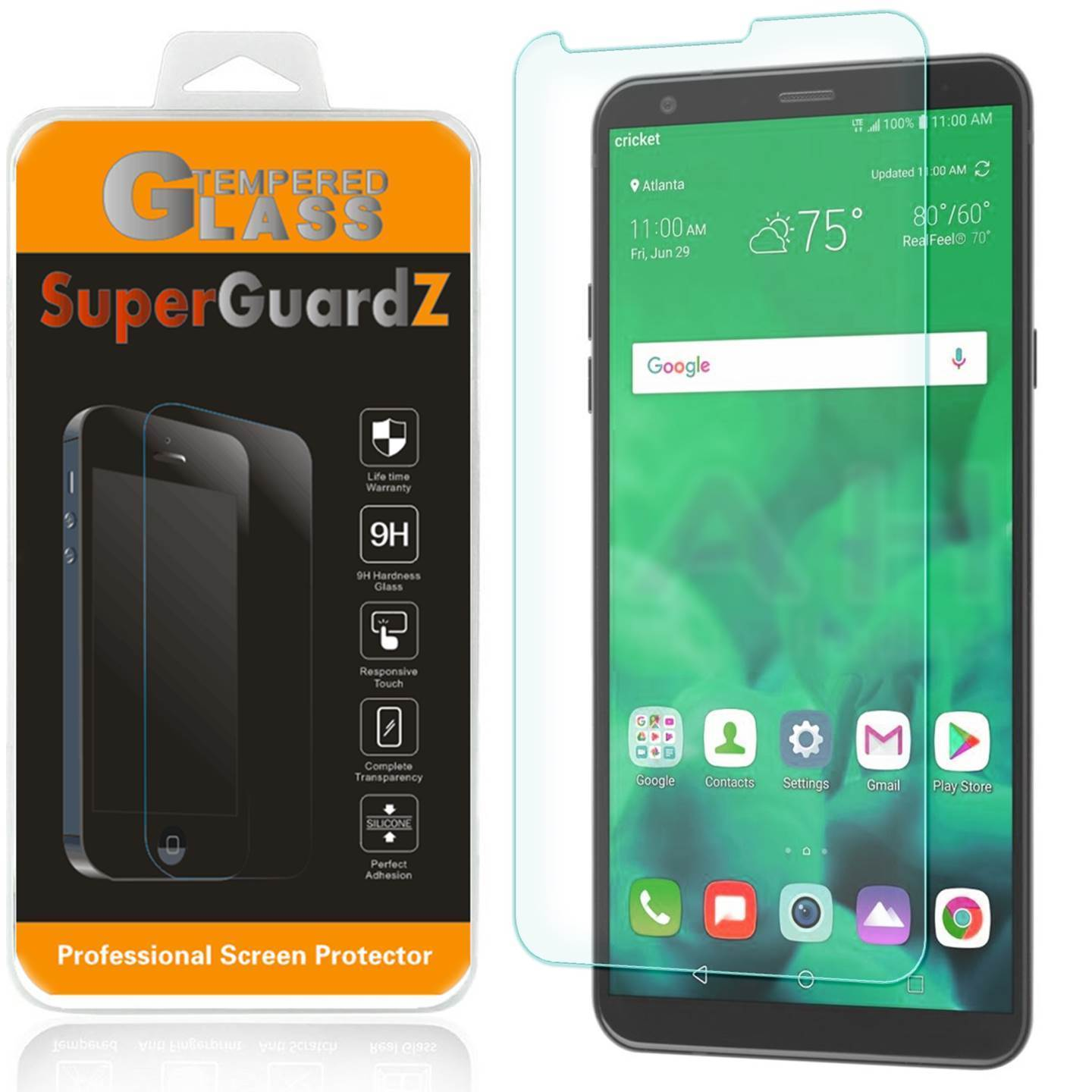 For LG Stylo 4 - SuperGuardZ Tempered Glass Screen Protector, 9H, Anti-Scratch, Anti-Bubble, Anti-Fingerprint