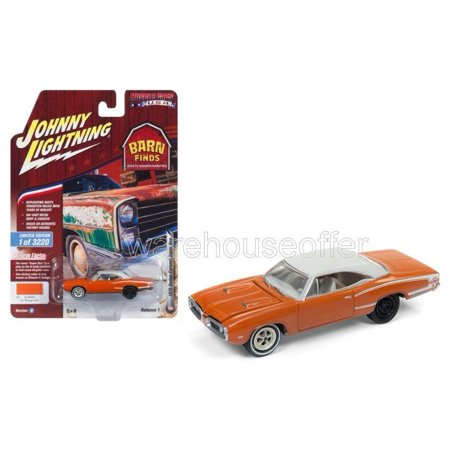 JOHNNY LIGHTNING 1:64 MUSCLE CARS USA 2018 RELEASE 1 VERSION B - 1970 DODGE CORONET SUPER BEE (GO MANGO IRID.) JLCP7081-24