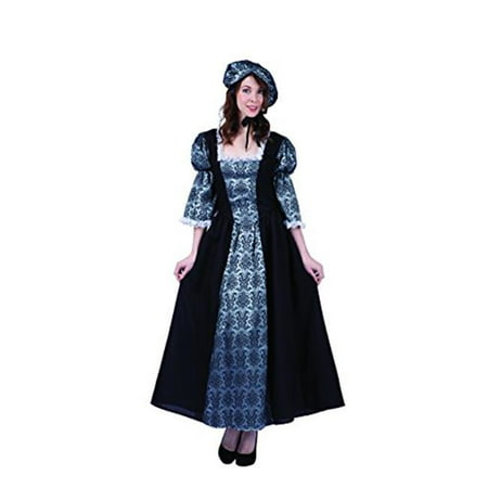 Womens Colonial Lady Charlotte Costume, Black & Silver - Large](Halloween Express Charlotte)