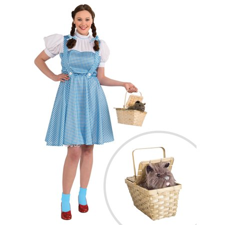 Plus Size Dorothy Costume for Adult and Deluxe Toto Basket