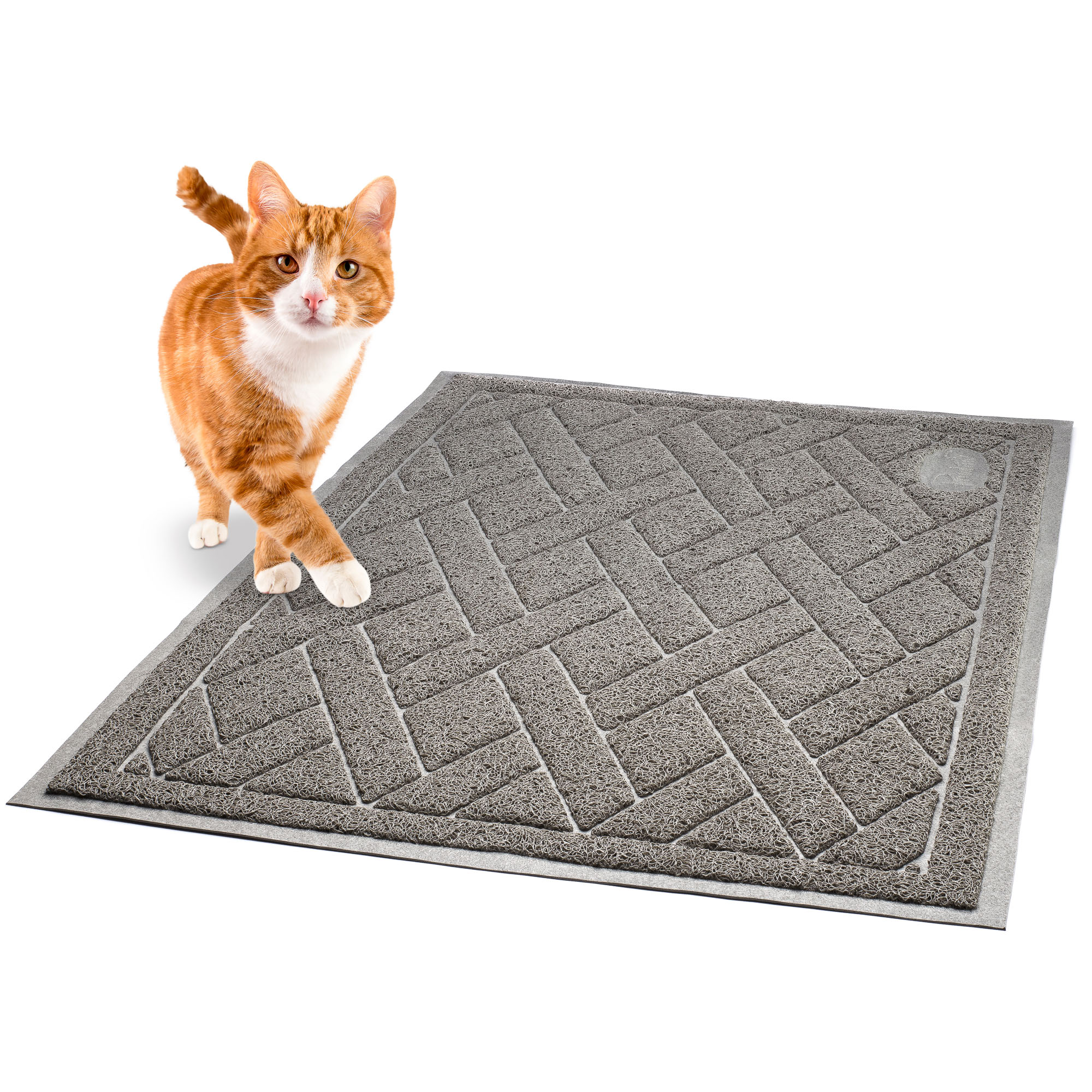 pawkin phthalate free cat litter mat patented design with litter lock mesh extra large