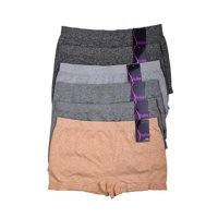 Sofra IN-LP0204SB5-OS Womens Seamless Boyshort, Assorted Color - One Size - Pack of 12