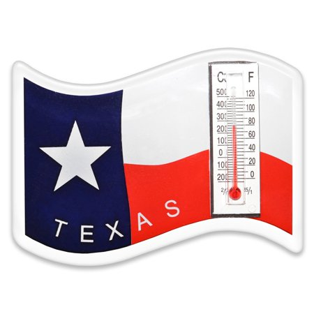 Magnet, Texas Flag Perfect Designed Magnet with Thermometer for Refrigerator, Locker or any Metal - Full Surface Magnet