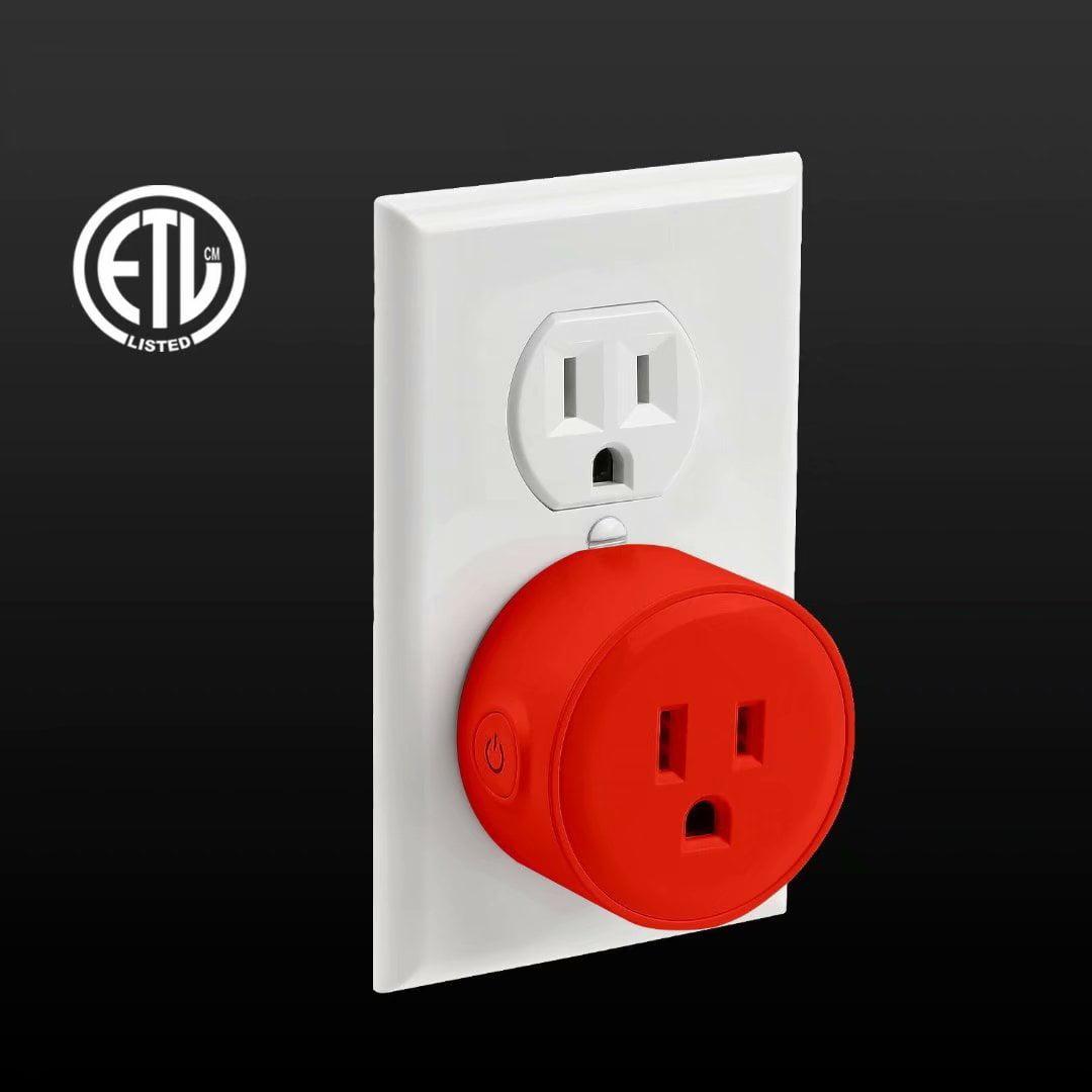 Litedge Smart Plug, Red - 1-Pack