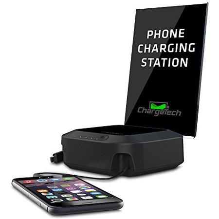 ChargeTech Portable Battery 6 Dock Station - 120 V AC, 230 V AC Input - 5 V DC Output - Input connectors: USB - AC Plug - 6 -  CT-300044