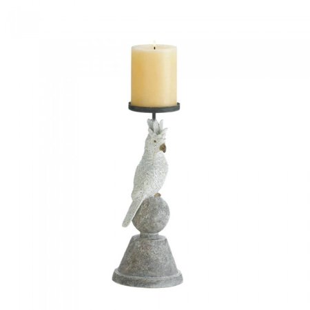 - Pillar Candles Holders, Antique Pedestal Pillar Candle Holder Rustic White Grey (Sold by Case, Pack of 9)