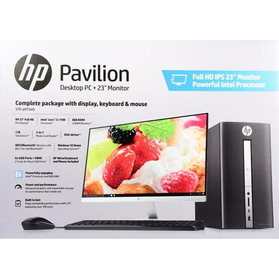 HP Pavilion 570-p013wb Desktop and 23