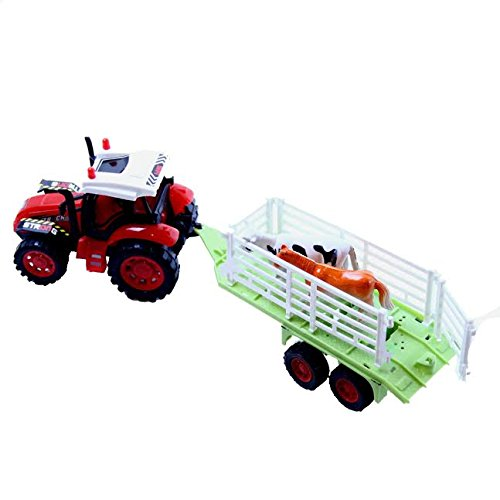 Dazzling Toys Farm Truck with Trailer Carrying Animals or Objects (May Vary) (D235) by dazzling toys