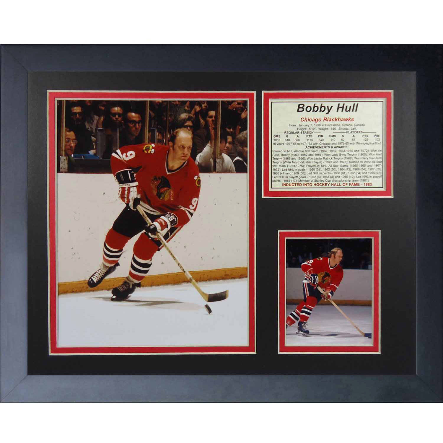 "Legends Never Die Bobby Hull Collage Photo Frame, 11"" x 14"""