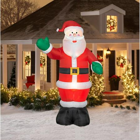 12' Tall Airblown Christmas Inflatable Santa - 12' Tall Airblown Christmas Inflatable Santa - Walmart.com