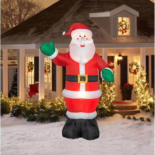 12 tall airblown christmas inflatable santa walmartcom