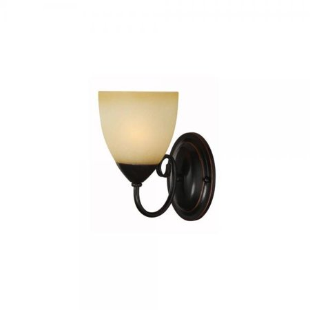 Hardware House Berkshire Series 1 Light Oil Rubbed Bronze 5 Inch by 8-1/4 Inch Bath / Wall Lighting Fixture : 16-8137
