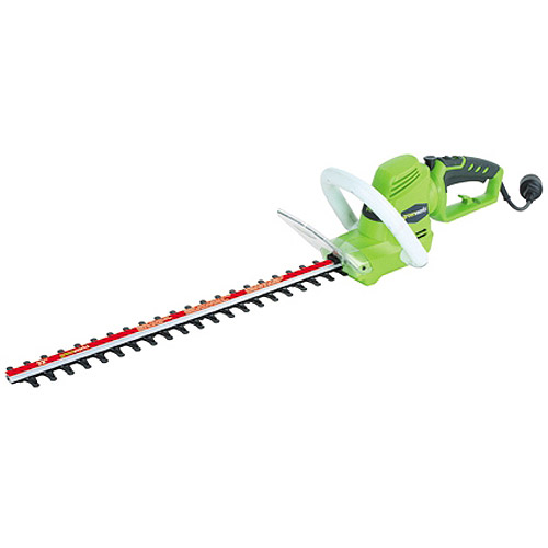 "Greenworks 4.0 amp 22"" Electric Rotating Handle Hedge Trimmer, Green"