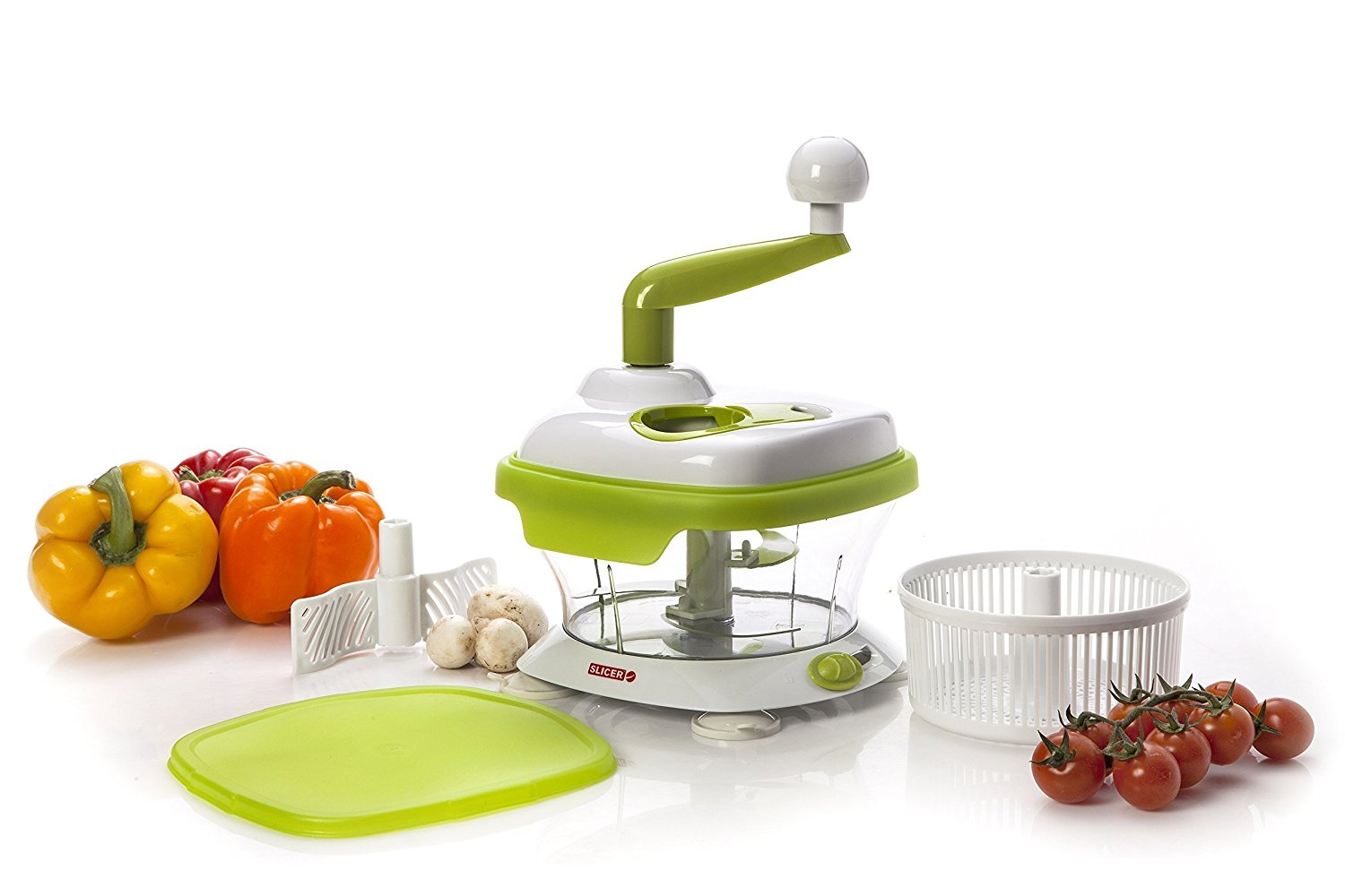 The Original Authentic MASTER SLICER Dicer Chopper Spinner for Fruits, Herbs, Salad,... by