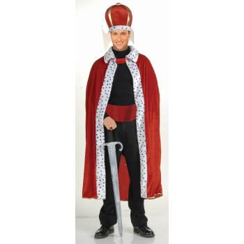 CO-KING ROBE & CROWN SET-RED (Clown For Halloween)