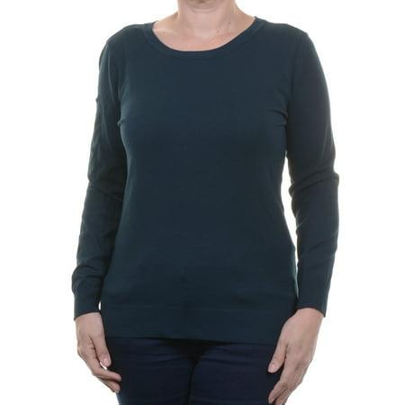 Alfani Women's Midnight Teal Crew Neck Sweater Size S (Midnight Teal Farbe)
