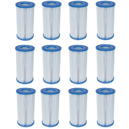 Swimming Pool Filter Pump Replacement Cartridge Type III 58012 (12 Pack), Bestway Filter Cartridge Type - III By (Best Way To Lower A1c)