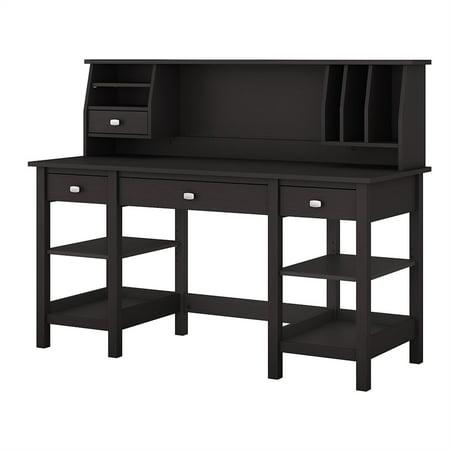 Excellent Bush Broadview 60 Home Computer Desk With Hutch In Espresso Oak Home Interior And Landscaping Ponolsignezvosmurscom