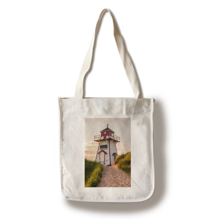 Prince Edward Island - Covehead Lighthouse and Dune - Lantern Press Photography (100% Cotton Tote Bag - (Cove Head)