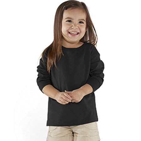 Toddler Fine Jersey Long Sleeve T-Shirt RS3302 (Rose Toddler T-shirt)