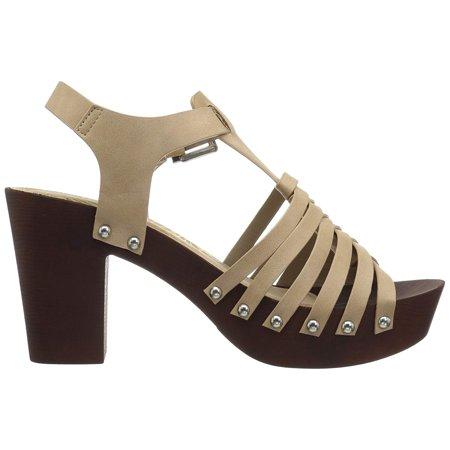4d6d93c27488 Qupid Womens beekler Open Toe Casual Slingback Sandals - image 1 of 2 ...