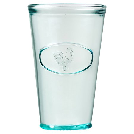 Rooster Hiball Drinking Glass, Set of 6, 16 oz - Turquoise Drinking Glasses