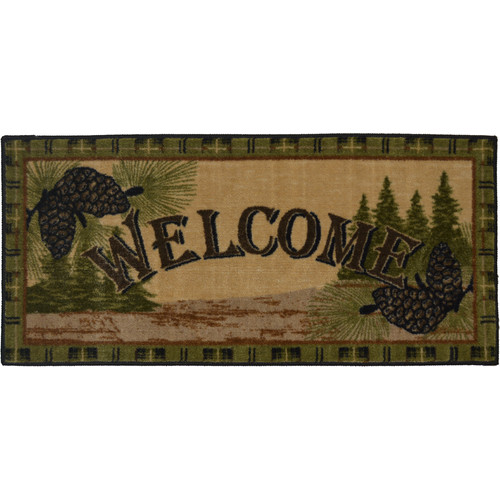 Mayberry Rug Cozy Cabin Forest Welcome Kitchen Mat