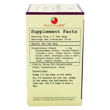 Image of Health King Cholesterol Guard Herb Tea 20 Tea Bags